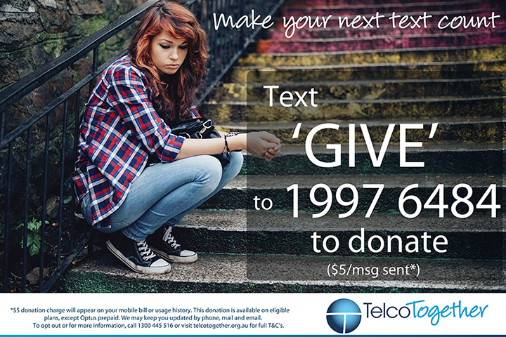 Text Giving poster